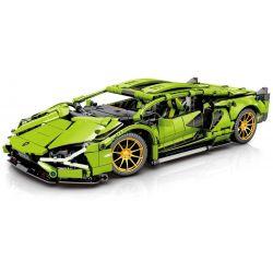 SHENG YUAN SY 8600 8609 Xếp hình kiểu Lego TECHNIC Technique Lamborghini Centenario Machinery Pink Lamborghini Cow 1 14 Con Bò Lamborghini Màu Hồng 1 14 gồm 2 hộp nhỏ 1254 khối