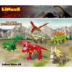 LINOOS LN7013 7013 LN7014 7014 LN7015 7015 LN7016 7016 LN7017 7017 LN7018 7018 Xếp hình kiểu Lego DINO The Land Of Dinosaurs Dinosaur Mainland 6 Vùng đất Khủng Long 6 gồm 6 hộp nhỏ 703 khối