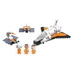 LINOOS LN8015 8015 Xếp hình kiểu Lego SNOOPY IN SPACE Snoopy Space Traveler Snono Space Shuttle Tàu Con Thoi 284 khối