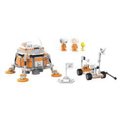LINOOS LN8014 8014 Xếp hình kiểu Lego SNOOPY IN SPACE Snoopy Space Traveler Snono Moon Lander Tàu đổ Bộ Mặt Trăng 393 khối