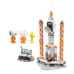 LINOOS LN8013 8013 Xếp hình kiểu Lego SNOOPY IN SPACE Snoopy Space Traveler Snono Rocket Tên Lửa 304 khối