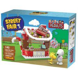 LINOOS LN8012 8012 Xếp hình kiểu Lego SNOOPY IN SPACE Snoopy Street Fair Snono Candy Shop Cửa Hàng Kẹo 145 khối