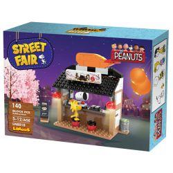 LINOOS LN8010 8010 Xếp hình kiểu Lego SNOOPY IN SPACE Snoopy Street Fair Snono Sushi Store Cửa Hàng Sushi 140 khối