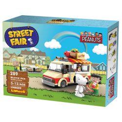 LINOOS LN8009 8009 Xếp hình kiểu Lego SNOOPY IN SPACE Snoopy Street Fair Snono Hot Dog Xe Xúc Xích 289 khối