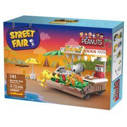 LINOOS LN8007 8007 Xếp hình kiểu Lego SNOOPY IN SPACE Snoopy Street Fair Snono Fruit Stall Quầy Bán Hoa Quả 141 khối