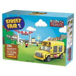 LINOOS LN8006 8006 Xếp hình kiểu Lego SNOOPY IN SPACE Snoopy Street Fair Snono Snono. 288 khối