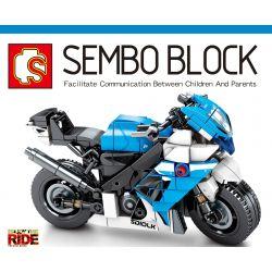 SEMBO 701204 Xếp hình kiểu Lego MOTO Suzuki GSX-R750 Enjoy The Ride Suzuki GXR-R750 280 khối