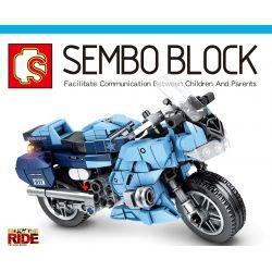 SEMBO 701203 Xếp hình kiểu Lego MOTO Enjoy The Ride Yamaha FJR1300A Police Car Xe Cảnh Sát Yamaha FJR1300A 321 khối