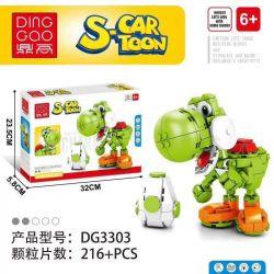 DINGGAO DG3303 3303 PRCK 69856-3 Xếp hình kiểu Lego S-Cartoon Yoshi Super Mario Yizhen Yizhen. 216 khối