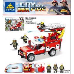 Kazi KY80530 80530 Xếp hình kiểu Lego FIRE RESCURE City Fire Small Rescue Fire Truck Xe Cứu Hỏa Cứu Hộ Nhỏ 265 khối
