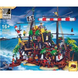 GEJIA 49016 ZEBRA BLOCKS 698998 Xếp hình kiểu Lego IDEAS Pirates Of Barracuda Bay Madoxi Bay Pirates Cướp Biển Vịnh Barracuda 2545 khối