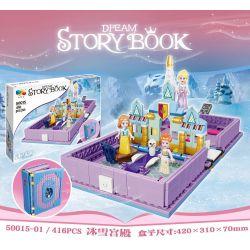 1995 20007-1 QIZHILE 50015-01 Xếp hình kiểu Lego DISNEY PRINCESS Anna And Elsa's Storybook Adventures Ice Snow Qi Anna And Aisha's Story Book Adventure Cuộc Phiêu Lưu Trong Cuốn Truyện Của Anna Và Els