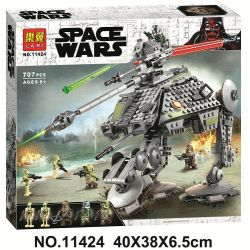 LARI 11424 Xếp hình kiểu Lego STAR WARS AT-AP Walker AT-AP Full Terrain Attack Pedestrower AT-AP Walker 689 khối