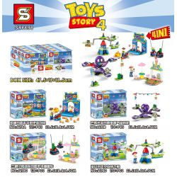 NOT Lego TOY STORY 10770 Buzz & Woody's Carnival Mania! Toy Story 4 Bathlights And Hudi's Carnival , LARI 11321 MINGGE MG3012 3012 SHENG YUAN SY 6698 SY6698 6698 SY6698A 6698A SY6698B 6698B SY6698C 66