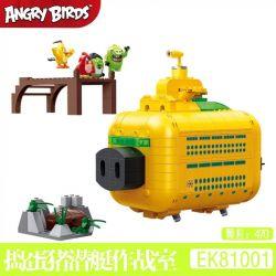 COGO 81001 Xếp hình kiểu Lego THE ANGRY BIRDS MOVIE Angry Bird 2 Trick Or Treat Pig Submarine Lừa Hoặc Xử Lý Phòng Chiến Tranh Tàu Ngầm 470 khối