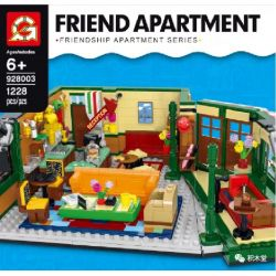 """BLANK 20019 CHENGYI CY1002 1002 G BRAND 928003 J 928003 12001 J BRAND J12001 12001 LARI 11448 XD 2029 Xếp hình kiểu Lego IDEAS Central Perk """"Old Friends"""" Central Park Cafe Perk Trung Tâm 1070 khối"""