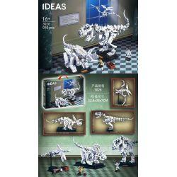 BLANK 3026 LARI 11449 Xếp hình kiểu Lego IDEAS Dinosaur Fossils Hóa Thạch Khủng Long 910 khối