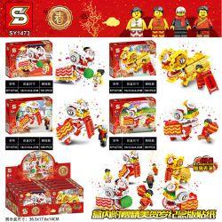 NOT Lego SEASONAL 80104 Lion Dance , LWCK 702 SHENG YUAN SY SY1473 1473 SY1475 1475 WOMA C.9120 .9120 Xếp hình Múa Sư Tử 882 khối