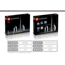 DILE 3131 Xếp hình kiểu Lego ARCHITECTURE Landmark Building Dubai Skyline Dubai 740 khối