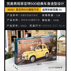 BLANK 2021 BRICK ELEMENT 19002 G·M 85021 LARI 11509 LEBO 71103 LION KING 180163 REBRICKABLE MOC-39097 39097 MOC39097 SUPER 18K K-97 Xếp hình kiểu Lego CREATOR EXPERT Fiat 500 Fiat Nuova 500 Fiat 500 9