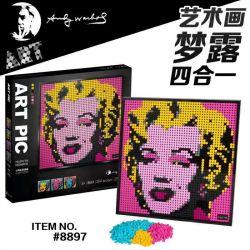 A BLOCK 8897 A A BLOCK 8897 SNAKE 30097 Xếp hình kiểu LEGO ART Mosaic Portrait Andy Warhol's Marilyn Monroe Marilyn Monroe Của Andy Warhol 3341 khối