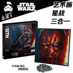 B BLOCK 9002 BLANK 8900 SNAKE 30100 Xếp hình kiểu LEGO ART Star Wars The Sith Mosaic Portrait Star Wars Sith Dark Lord Chiến Tranh Giữa Các Vì Sao The Sith 3406 khối