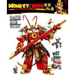 123 BRICKHEAD BUILDING BLOCKS 123-1 BLANK 123-1 70001 7190 7191 S0001 0001 LARI 11545 LEBO 10752 SNAKE 32107 Xếp hình kiểu Lego MONKIE KID Monkey King Warrior Mech Wukong Xia Qi Tian Dasheng Golden Ma