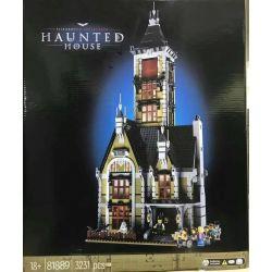 BLANK 81889 LEBO 10753 XD 2025 Xếp hình kiểu Lego CREATOR EXPERT Haunted House Ghost House Jumping Machine Ngôi Nhà Ma ám 3231 khối