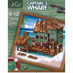URGE 30102 Xếp hình kiểu Lego TOWN Captain's Wharf Old Fisherman Captain Pier Thuyền Trưởng 2745 khối