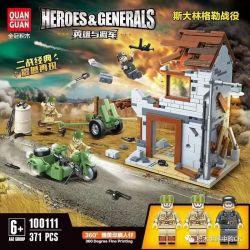 QUANGUAN 100111 Xếp hình kiểu Lego BRICKHEADZ Hangzhou BrickHeadz Hero And General Stalin Glerle Battle Gạch Hàng ChâuHeadz 371 khối
