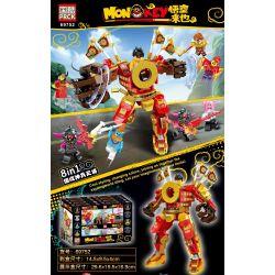 PRCK 69752 Xếp hình kiểu Lego MONKIE KID Monkey Wukong Comes God Soldiers Will Be 8 Combinations Shenbing Tianjiang 8 Kết Hợp