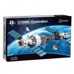 ZHEGAO QL0243 0243 Xếp hình kiểu Lego TOWN COSMIC Exploration Space Station Trạm Không Gian 1604 khối