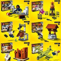 QUANGUAN 100012 Xếp hình kiểu Lego PUBG BATTLEGROUNDS Jedi Survival Chiến Trường Của Người Chơi Vô Danh