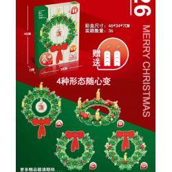 NOT Lego SEASONAL 40426 Christmas Wreath 2-in-1 Christmas Garland , DK 3010 GOLDEN APPLE 00426 Xếp hình Vòng Hoa Giáng Sinh 2 Trong 1 510 khối