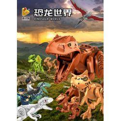 PanlosBrick 18401-1 Panlos Brick 18401-1 Xếp hình kiểu Lego JURASSIC WORLD Dinosaur World Dinosaur 9 People 2 Dinosaur 9 Mô Hình Minifigure 2 Mô Hình 102 khối