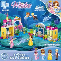 ZHEGAO QL1152 1152 Xếp hình kiểu Lego DISNEY PRINCESS Windsor Seliia Seabed Castle 4 Combinations Celia Dưới Nước Lâu đài 4 Kết Hợp 325 khối