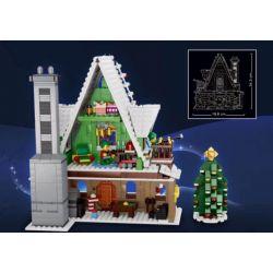 QIZHILE 90012 90013 Xếp hình kiểu Lego CREATOR EXPERT Elf Club House Winter Village Elf Club Nhà Câu Lạc Bộ Yêu Tinh 1197 khối