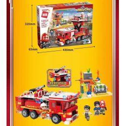 Enlighten 12013 Qman 12013 KEEPPLEY 12013 Xếp hình kiểu Lego MINECITY My City Fire Line Rescue Action Hoạt động Cứu Hộ FireWire 539 khối