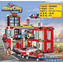Enlighten 12014 Qman 12014 KEEPPLEY 12014 Xếp hình kiểu Lego MINECITY My City Fire Rescue Bureau Cục Cứu Hỏa Và Cứu Nạn 693 khối