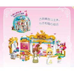 Enlighten 32012 Qman 32012 KEEPPLEY 32012 Xếp hình kiểu Lego PRINECESS LEAH Princess Leah Lia Princess Huahong Dream Xinya Princess House Phòng Công Chúa Xinya 6 khối