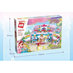 Enlighten 32013 Qman 32013 KEEPPLEY 32013 Xếp hình kiểu Lego PRINECESS LEAH Princess Leah Lia Princess Huahong Dream Secret Garden Treasure Box Hộp Kho Báu Secret Garden 301 khối