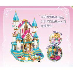 Enlighten 32015 Qman 32015 KEEPPLEY 32015 Xếp hình kiểu Lego PRINECESS LEAH Princess Leah Lia Princess Huahong Dream Flower Language Castle Dance Bóng Lâu đài Ngôn Ngữ Hoa 1169 khối