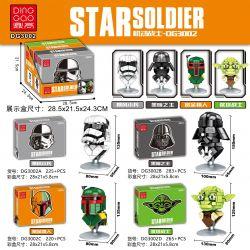 DINGGAO DG3002A 3002A DG3002B 3002B DG3002C 3002C DG3002D 3002D Xếp hình kiểu Lego Star Soldier Gundam Avatar 4 Storm Soldiers, Diablod, Bounty Hunter, Jed Tower Warrior Chân Dung 4 Kiểu Bão Tố Creep,