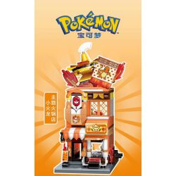 KEEPPLEY K20210 20210 Xếp hình kiểu Mini Blocks POKÉMON Pokemon Treasure Dream Little Fire Dragon Theme Hot Pot Store Nhà Hàng Lẩu Chủ đề Little Fire Dragon