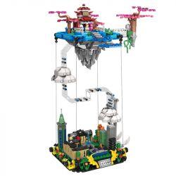 Kazi KY2011 2011 Xếp hình kiểu Lego FAIRY SWORDPLAY Heavenly Palace Severity Cung điện Quang Sơn 1116 khối