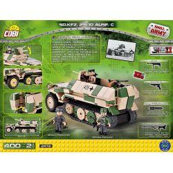 COBI 2472 Xếp hình kiểu Lego MILITARY ARMY Sd.Kfz.251 10 Ausf.C SdKfz 251 Half-track Vehicle Xe Bán Tải SdKfz 251 400 khối