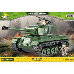 COBI 2471 Xếp hình kiểu Lego MILITARY ARMY M-26 Pershing M26 Pershing Tank Xe Tăng M26 Pershing 475 khối