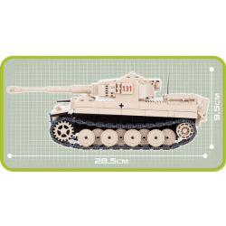 COBI 2477 Xếp hình kiểu Lego MILITARY ARMY Tiger 131 500 khối