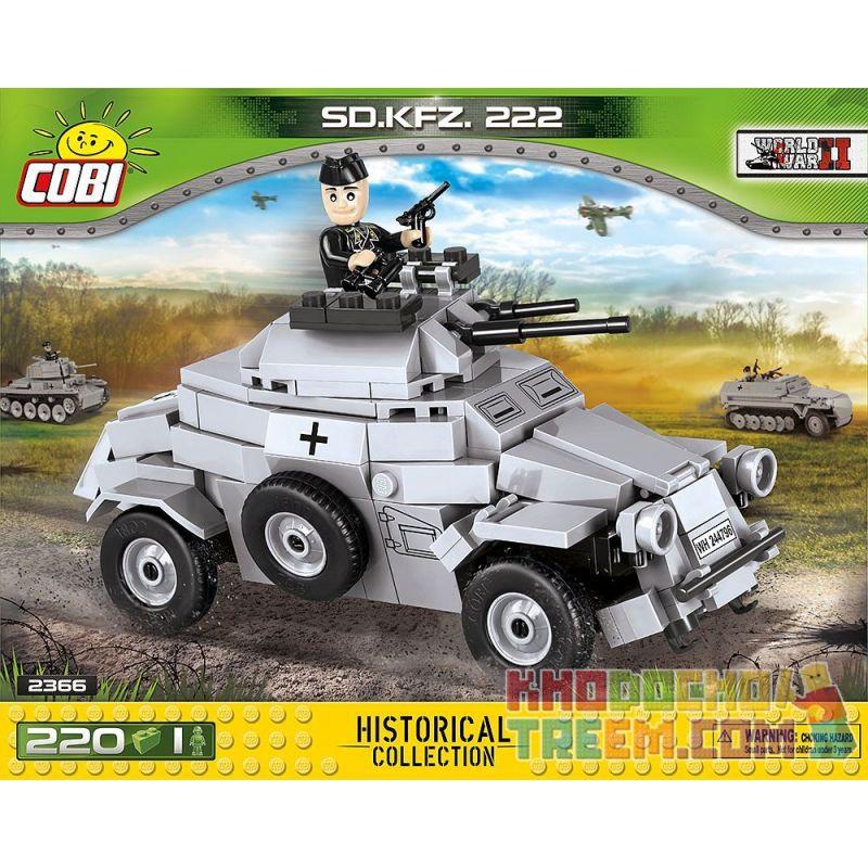 COBI 2366 Xếp hình kiểu Lego MILITARY ARMY Sd.Kfz.222 Light Armored Reconnaissance Vehicle Xe Trinh Sát Bọc Thép Hạng Nhẹ Sd.Kfz.222 200 khối