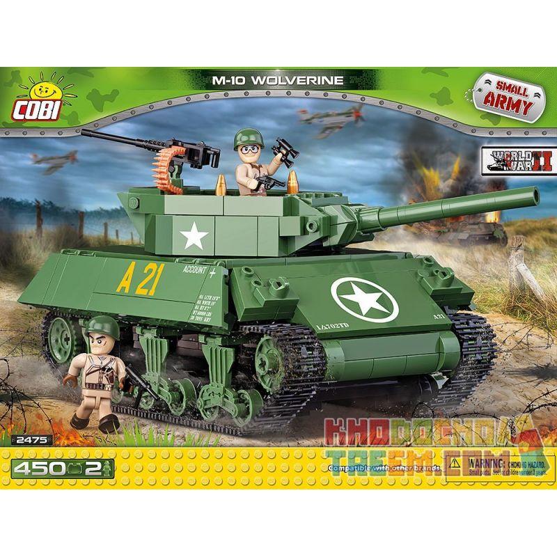 COBI 2475 Xếp hình kiểu Lego MILITARY ARMY M-10 Wolverine M10 Tank Destroyer Pháo Chống Tăng M10 440 khối